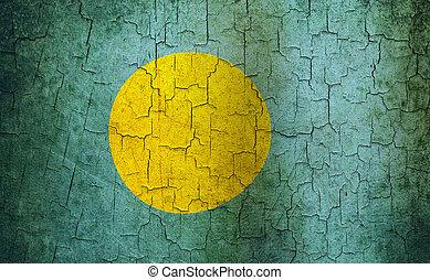 Grunge Palau flag