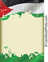 Grunge palestinian poster - A poster with a large scratched...
