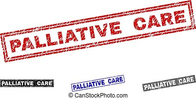 Grunge PALLIATIVE CARE Scratched Rectangle Watermarks