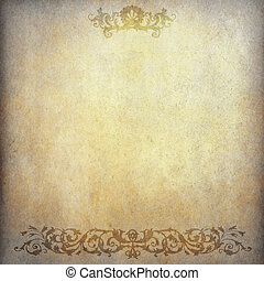 Grunge paper background with vintage pattern