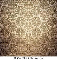 Grunge paper background with vintage patterns.