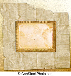 Grunge paper design in scrapbooking style on the  abstract background