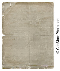 Grunge paper design in scrapbooking style on the white ...