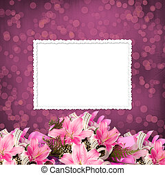 Grunge paper for invitation or congratulations with a...