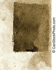 Grunge paper - Abstract grunge paper frame in sepia
