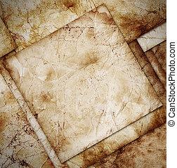 grunge paper frame, vintage background