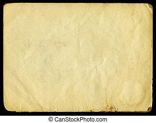 Grunge paper - Old grunge paper on black background