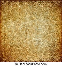 Grunge paper. - Grunge paper with decorative border.