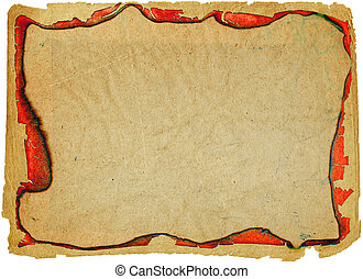 grunge paper with red ragged edges