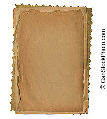 Grunge papers design in scrapbooking style on the white isolated background