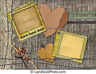 grunge, papiere, design, in, scrap-booking, stil