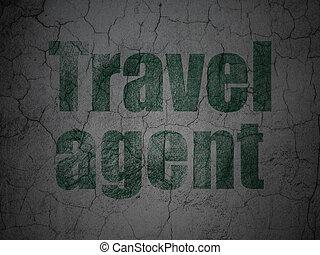 grunge, pared, agente de viajes, plano de fondo, turismo, ...