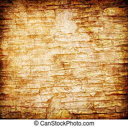 grunge, pared, resumen, fondo amarillo, roca