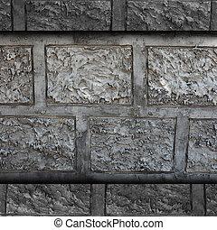 grunge, parede, gesso, cimento, decoração, concreto, desenho, textura, fundo, arquitetura