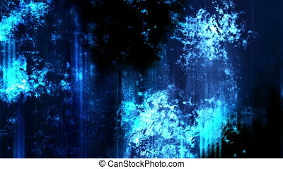 Grunge particle blue white and black abstract animated...
