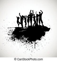 grunge, partido, pessoas
