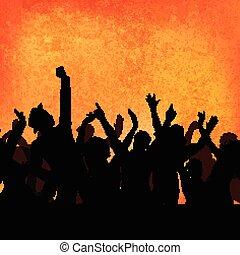 Grunge party crowd