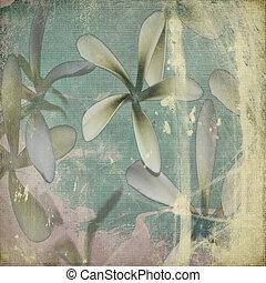 Grunge pastel flower background
