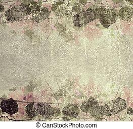 Grunge pastel pink bougainvillea foliage frame