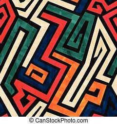 grunge, patrón, líneas, efecto, seamless, viejo