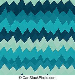 grunge, patrón, seamless, zigzag, efecto, marina