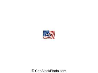 Grunge pattern flag USA background. Vector illustration, EPS10