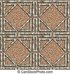 grunge, pattern., metallo, seamless, fondo.