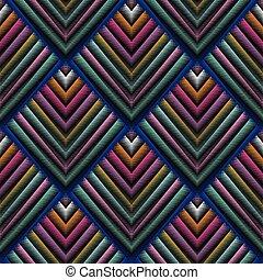 grunge, pattern., seamless, vetorial, bordado, geomã©´ricas, tapeçaria, 3d