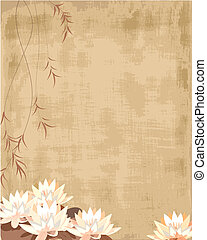 grunge pattern with lilies