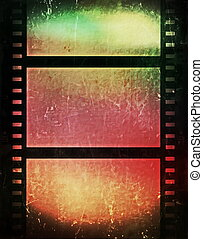 grunge, película, fundo, faixa