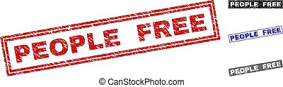Grunge PEOPLE FREE Textured Rectangle Watermarks