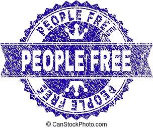 grunge, persone, francobollo, textured, libero, sigillo,...