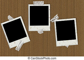 Grunge Photo Album - Grunge photo album page made of...