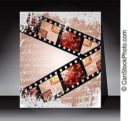 grunge, photo, enregistrement, vidéo, ou, pellicule