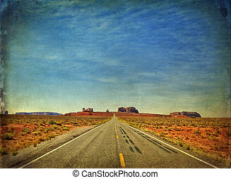 monument valley in utah, interstate 163, usa
