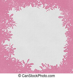 Grunge pink flowers with abstract textured background