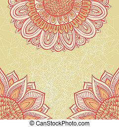 Grunge pink greeting card