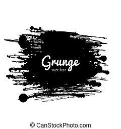 grunge, pintura, splat