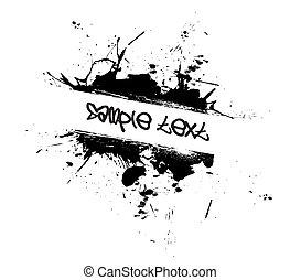 grunge, pintura, splatter