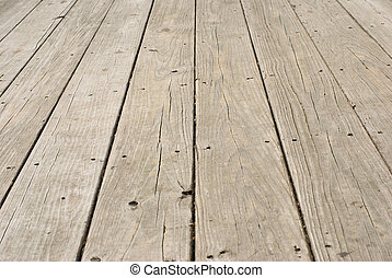 grunge, piso de madera, con, viejo, clavos