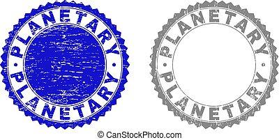 Grunge PLANETARY Textured Watermarks - Grunge PLANETARY...