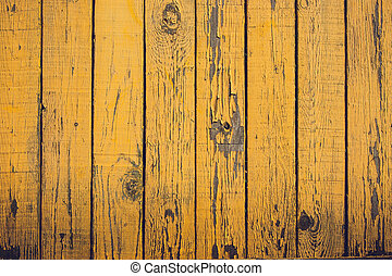 Grunge planks in yellow colors