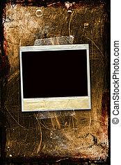 grunge, polaroid