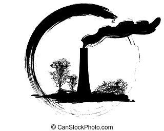 pollution - grunge pollution icon