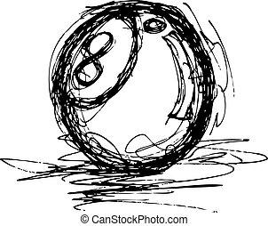 grunge pool ball
