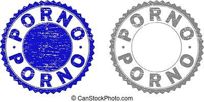 Grunge PORNO Scratched Stamps - Grunge PORNO stamp seals ...