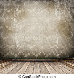 grunge, portato, interno, vecchio, industriale, stanza, superficie