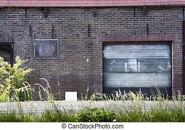grunge, porte garage