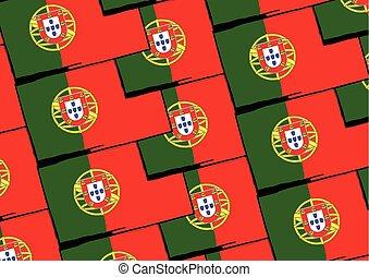 Grunge PORTUGAL flag or banner vector illustration