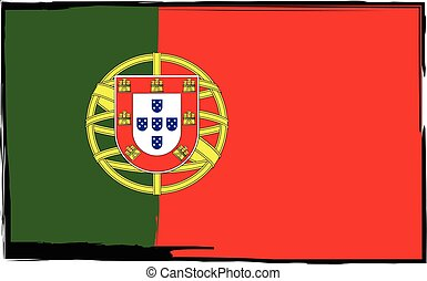 Grunge PORTUGAL flag or banner